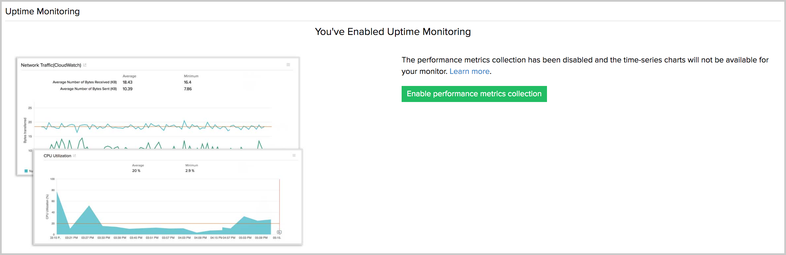 uptime monitoring enabled for AWS resources