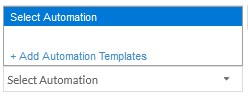 IT Automation template selection without preloaded templates