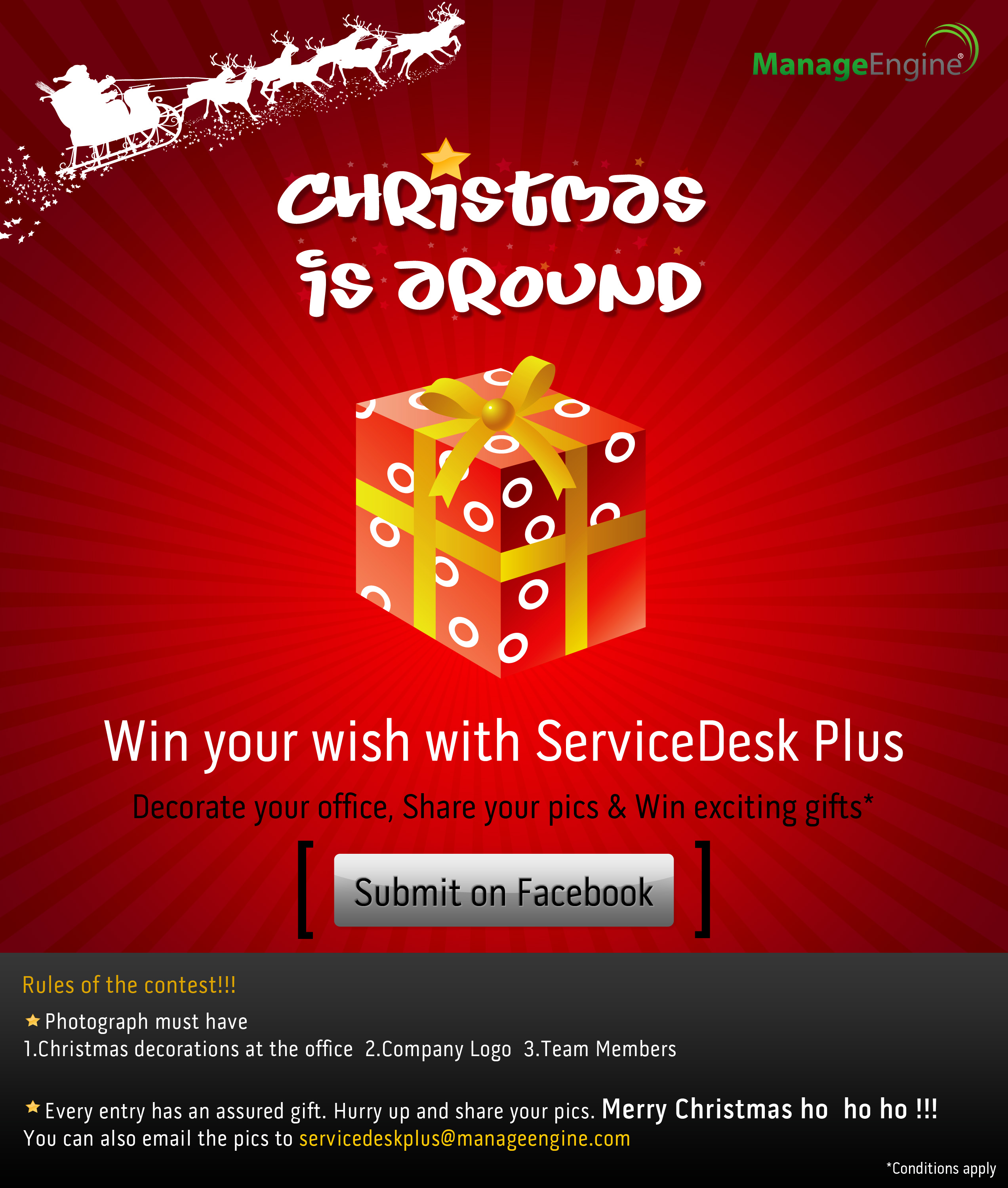 Decorate your office this christmas and win exciting gifts