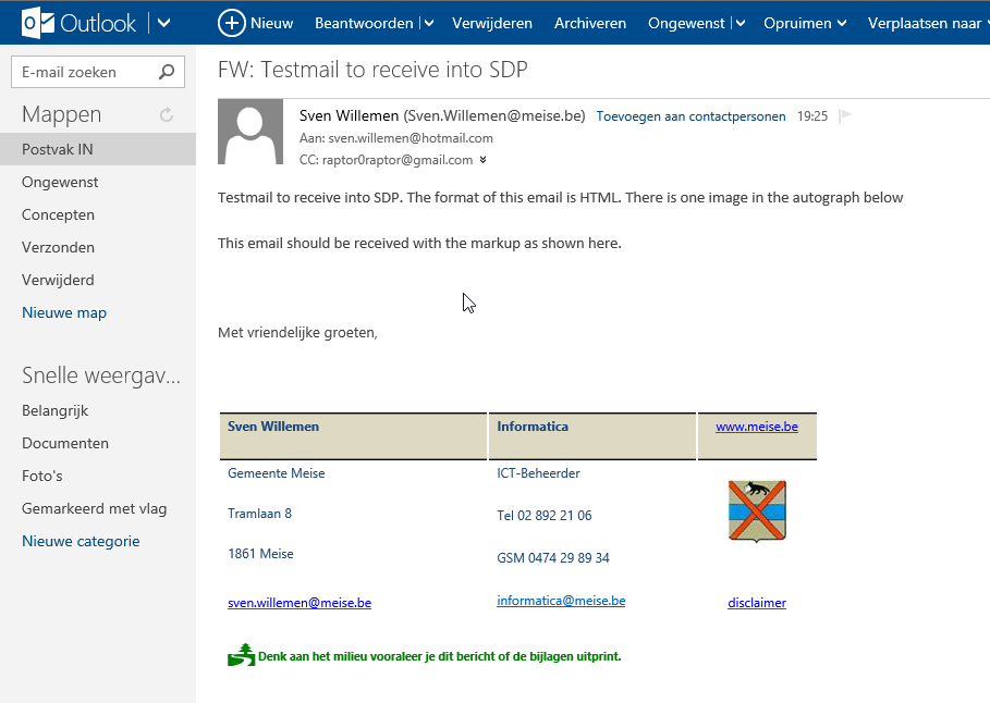 SDP Incoming email in plain text only through internal Exchange 2010 ...