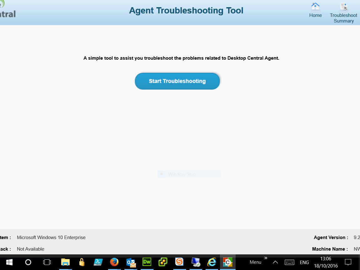 agent troubleshooting tool