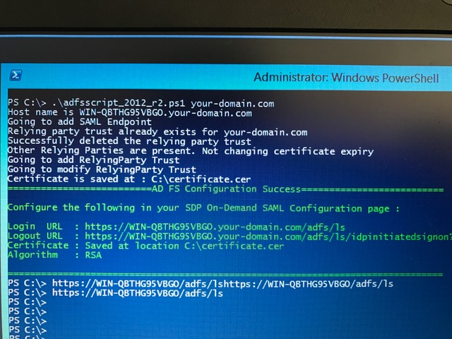 How setup authentication user by ADFS?