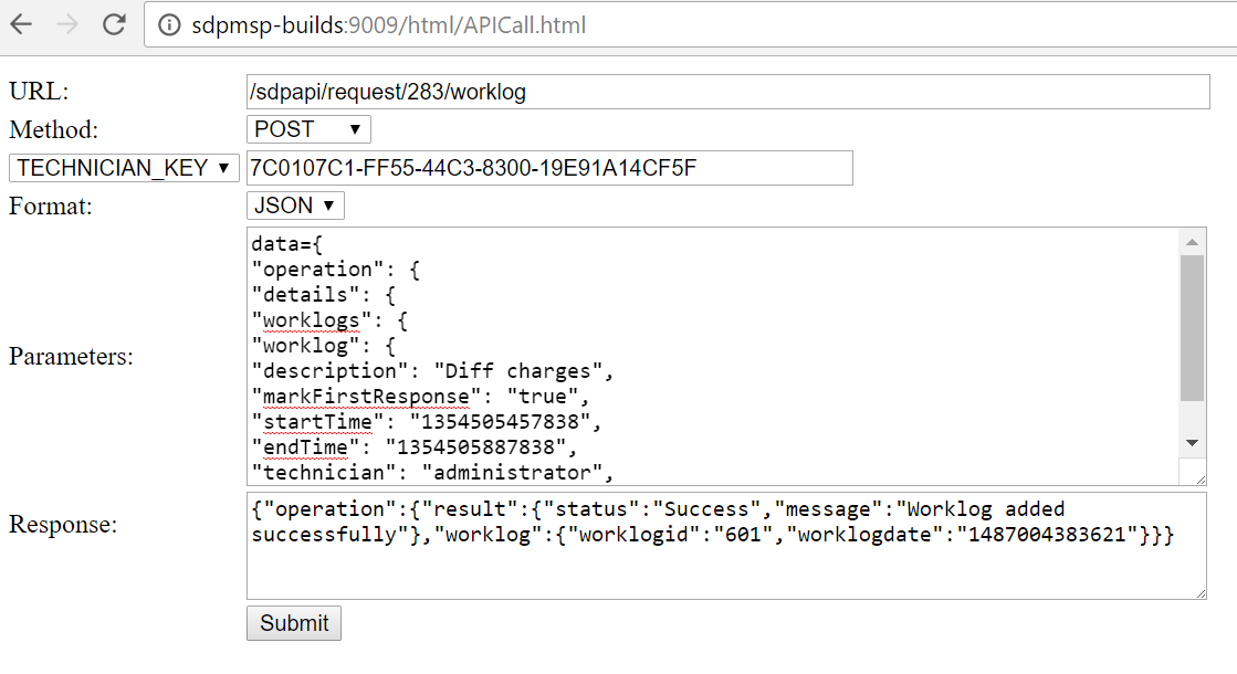Creating requests with requester details using REST API (json)